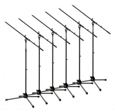 Pronomic MS-15 Pro microphone boom stand 6x Set