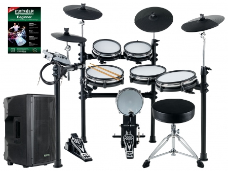 XDrum DD-530 Mesh heads E-Drum MAXI LIVE KIT with Drum Monitor and Stool