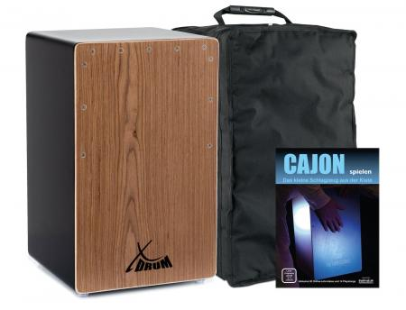 XDrum cajun Primero porte basse noir / noyer set méthode d'apprentissage & housse comprises
