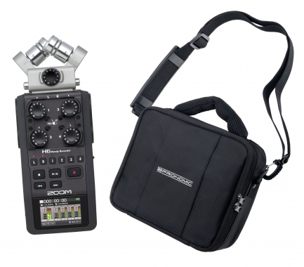Zoom H6 Handy Recorder + Pronomic RB-Flex Tasche