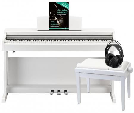 Yamaha YDP-163 WH Arius E-Piano Weiß Matt Deluxe Set