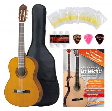 Yamaha CG162 C Konzertgitarre Zeder + Zubehörset