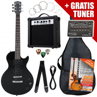 Rocktile L-Pack guitare électrique Black incl. ampli, housse, accordeur, câble, sangle
