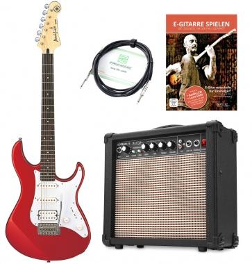 Yamaha Pacifica 012 E-Gitarre + Amp + Kabel, Red