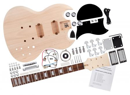 Rocktile kit de construction de guitare électrique style Double Cut
