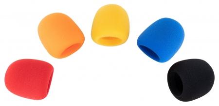 Pronomic WS-505 MC Windscreen 40-55 mm multi-coloured, 5-piece set