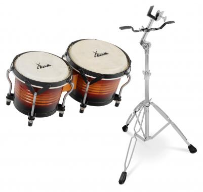 XDrum Bongo Pro Vintage SET incl. stand