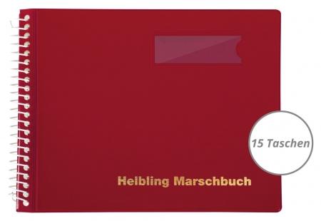 Helbling BMR15 Marschbuch rot, 15 Taschen