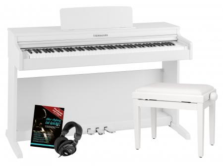 Steinmayer DP-321 WM Digital Piano White Matte Set