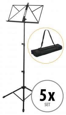Set of 5 Kirstein music stand solid, heavy design