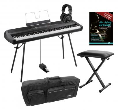 Korg SP-280 BK Portable Piano schwarz SET