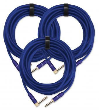 3-Piece SET Pronomic Trendline INST-6B Instrument Cable 6m blue