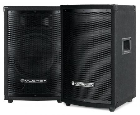 McGrey TP-10 DJ and speaker pair of 2 x 400 W