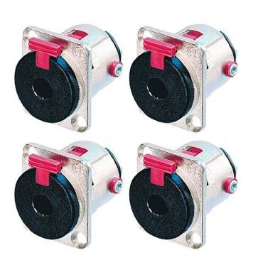Neutrik NJ3FP6C Klinken Einbaubuchse 6,3 mm stereo verriegelbar 4er Pack