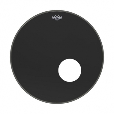"Remo 20"" Powerstroke P3 Ebony Bass Drum Reso"