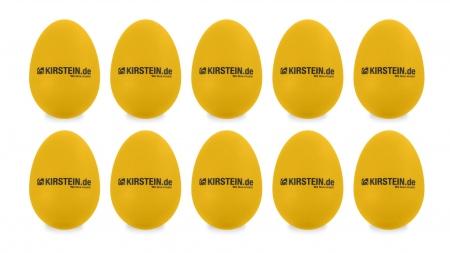 10x Kirstein ES-10Y Egg Shaker gelb Heavy Set