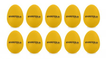 10 x Kirstein ES-10Y Egg Shaker Gelb Set