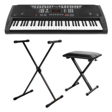 FunKey 61 Keyboard noir Set incl.  Support de Clavier. Banquette inclus