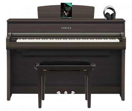 Yamaha CLP-675 DW Digitalpiano Walnuss SET mit Kopfhörer, Bank, Schule