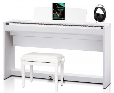 Kawai CL 36 SB Piano digital color blanco satinado (incluidos banqueta y auriculares)