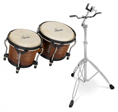 XDrum Bongo Pro Tobacco SET incl. Stand