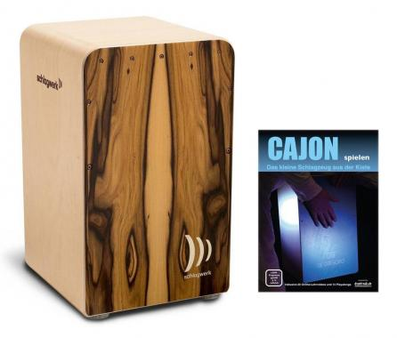 "Schlagwerk CP 605 Cajon Fineline Comfort ""Morado"" SET inkl. Cajonschule"