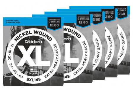 D'Addario EXL148 Extra-Heavy - 5er Pack
