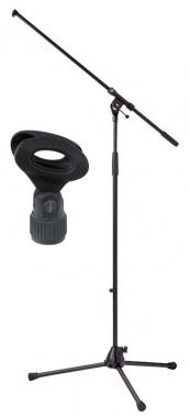 K&M 210/2 Mikrofonstativ Schwarz SET inkl. Klemme