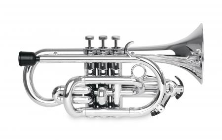 Classic Cantabile TROMBA Kunststoff Bb-Cornet Silber