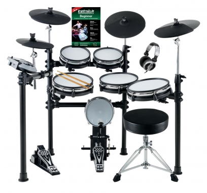 XDrum DD-530 Mesh Heads E-Drum MAXI KIT with stool and headphone