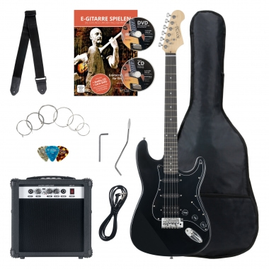 Rocktile Banger's Power Pack E-Gitarren Set, 7-Piece, Black