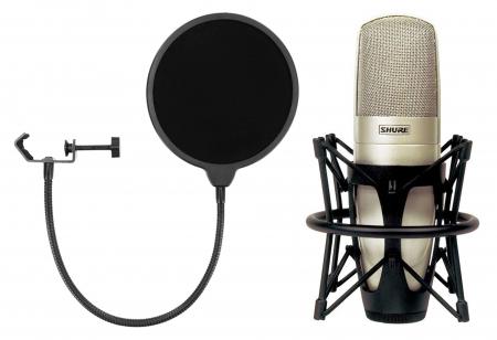 Shure KSM 32/SL Kondensatormikrofon Set inkl. Popkiller