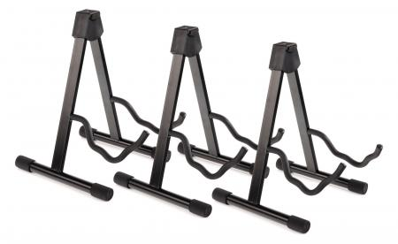 Set of 3 Classic Cantabile Combination Guitar Stand Electric/Acoustic Guitar