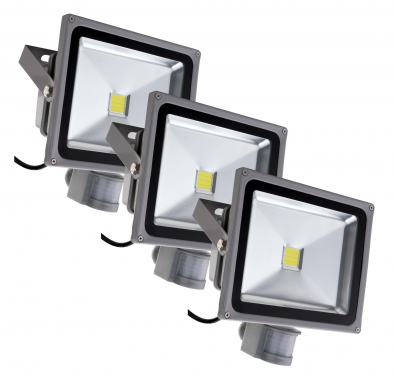 Showlite FL-2030B LED Floodlight IP65 30W 3300 lumen 3-piece SET