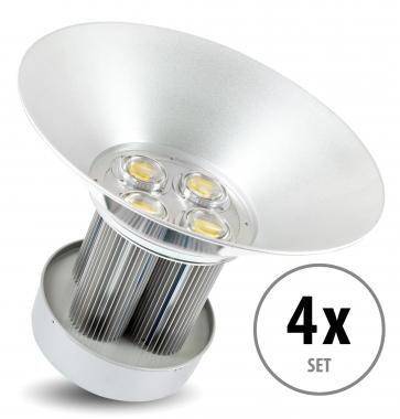 4 x Showlite HBL-210 COB LED High Bay Hallenstrahler 210W