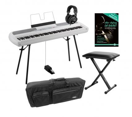 Korg SP-280 WH Portable Piano weiß SET