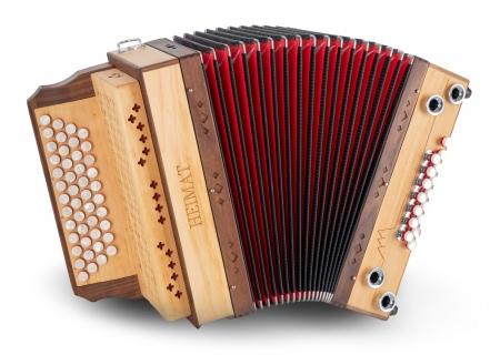 Heimat 4/III harmonica La-Ré-Sol-Do MB aulne