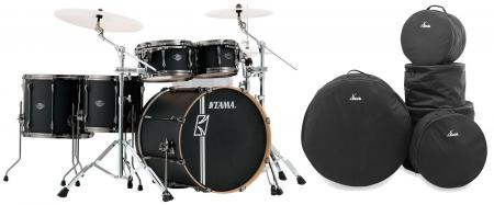 Tama ML52HLZBN-FBK Superstar Maple Drumkit Flat Black Set inkl. Gigbags