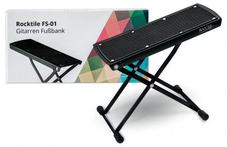 Rocktile Guitar Footrest Black