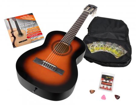 Calida Benita Guitare Classique 1/2 Sunburst avec accessoires