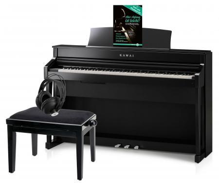 Kawai CS-8 Digitalpiano schwarz poliert Set