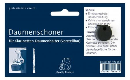 aS Daumenschoner für Klarinette verstellbar (rund)