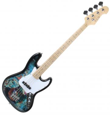 Rocktile Pro JB-30BGF E-Bass, Graffiti  - Retoure (Zustand: sehr gut)
