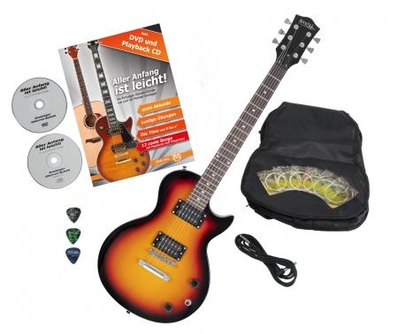 Rocktile L-100 SB guitarra eléctrica Sunburst con accesorios