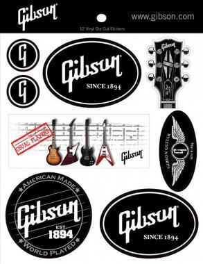 Gibson Logo Sticker Sheet