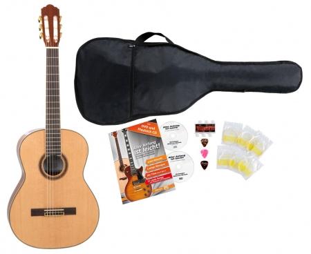 Rocktile CG-70 4/4 guitare de concert set démarrage incl. kit d'accessoires à 5 pièces