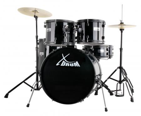"XDrum Rookie 22"" Standard Drum Set Complete set Black"
