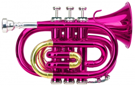 Classic Cantabile Brass TT-400 Bb Pocket Trumpet pink