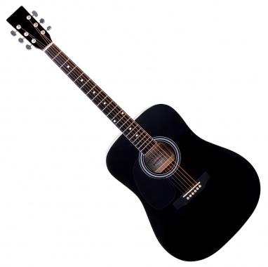 Classic Cantabile WS-10BK-LH Westerngitarre schwarz Linkshänder-Modell  - Retoure (Zustand: gut)