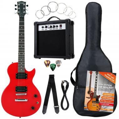 Rocktile Banger's Pack Single Cut E-Gitarren Set, 7-teilig Red  - Retoure (Zustand: sehr gut)